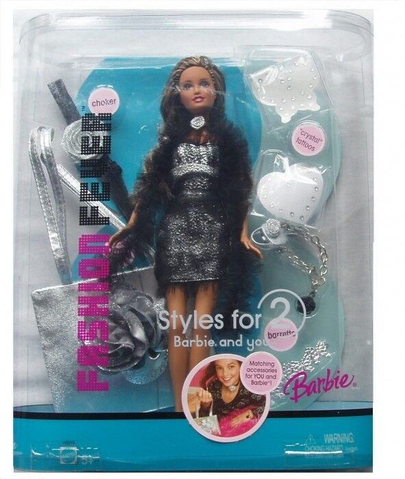 Barbie Fashion Fever Style For 2 Barbie And You Doll and accessories Rare By ...