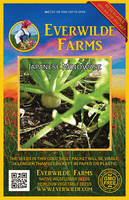 500 Pink Celebration Radish Seeds Everwilde Farms Mylar Seed Packet
