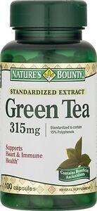 Nature's Bounty Green Tea Extract, 315mg, 100 Capsules