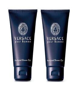 e3c91ae289 2 X Versace Pour Homme Men 3.4 oz 100 ml Perfumed Shower Gel ...
