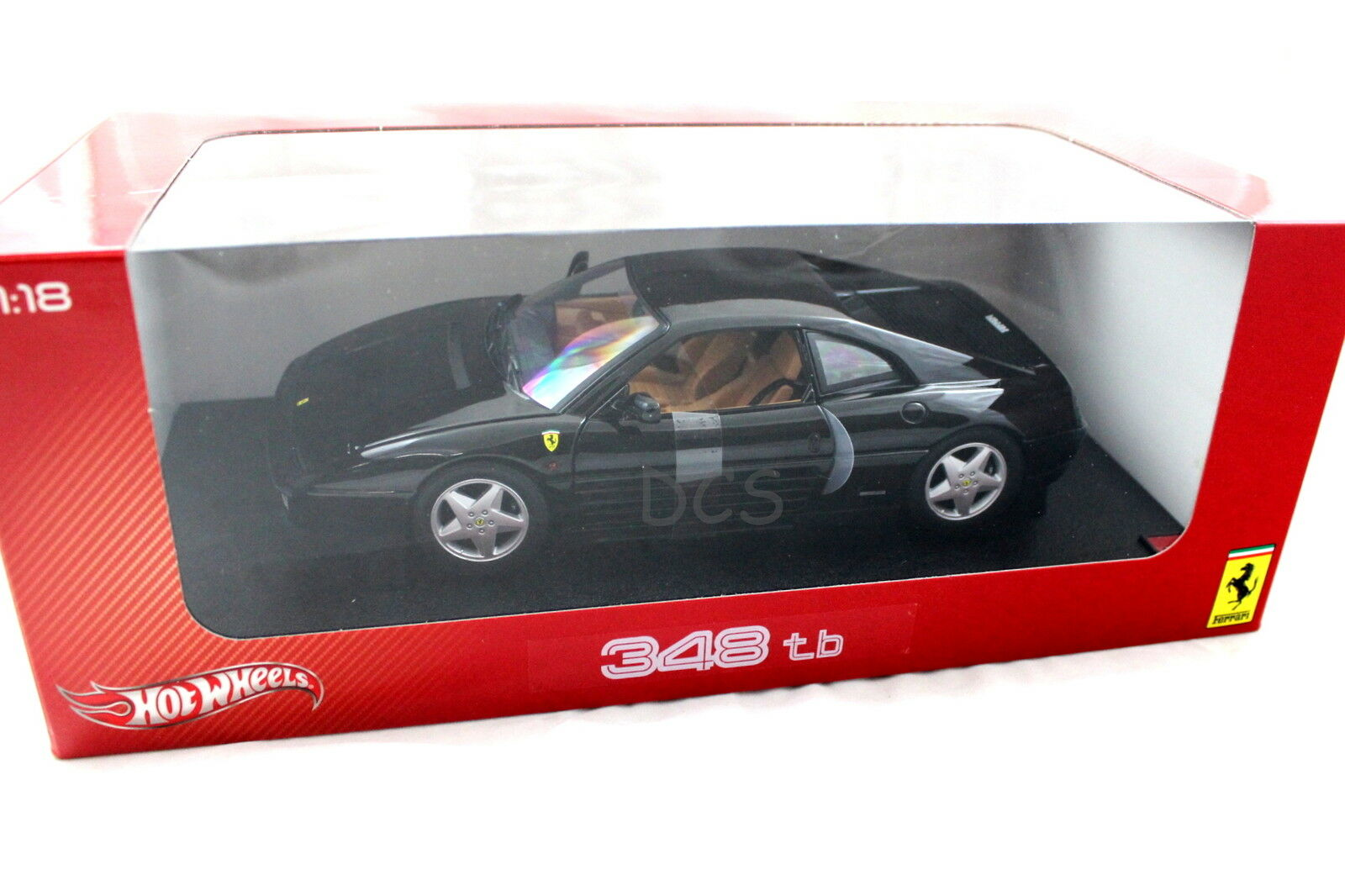 Hot Wheels Wheels Wheels 1989 Ferrari 348 Tb Negro 1 18 Diecast x5530 f12e6a