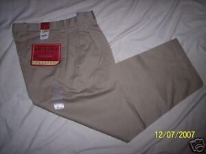 98f97a9f9 La foto se está cargando Nuevo-con-etiquetas-Arizona-Pantalon-Plisado -Khakis-34X29-