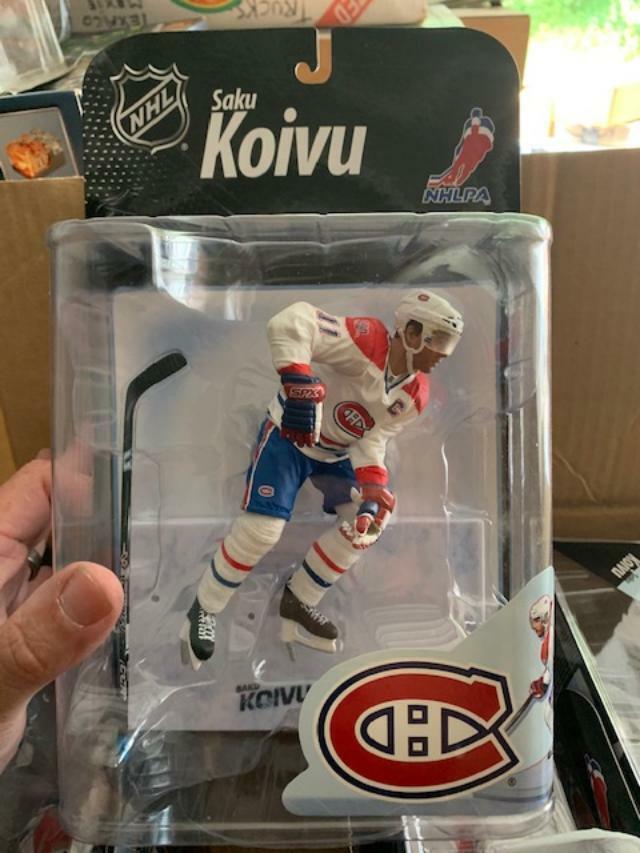 Caso Lote de 8 Saku Koivu Montreal Canadiens mcfarlane figurine serie 22 Nhl