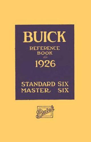 Standard 6 1926 OEM Repair Maintenance Owner/'s Manual Bound for Buick Master 6