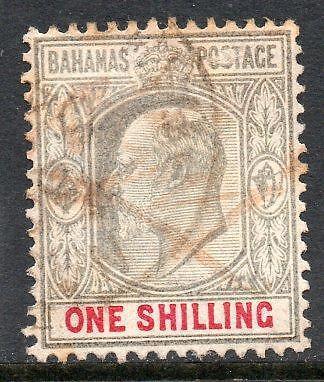 2019 Nieuwste Ontwerp Bahamas Sg67 1902-10 1/- Grey Carmine Het Voeden Van Bloed En Het Aanpassen Van De Geest