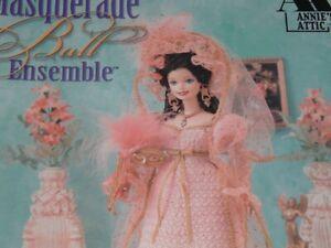 Vtg 1998 Annies Attic Barbie Fashion Doll Masquerade Ball