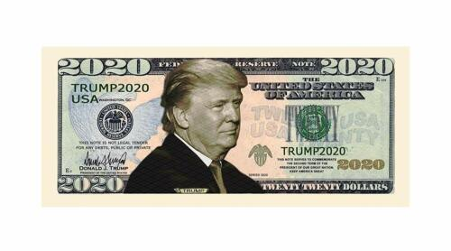 25 Donald Trump 2020 For President Re-Election Campaign Dollar Bill Collectible