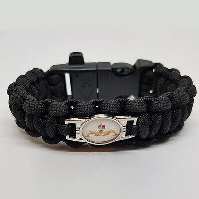 Queens Royal Hussars Badged Survival Bracelet Tactical Edge.