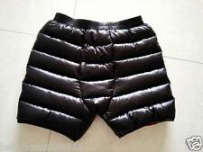 Unisex Shiny nylon wet-look Down Shorts Pants Hose Knickers Breeches Panties New