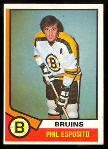 1974 75 OPC O PEE CHEE #200 PHIL ESPOSITO NM BOSTON BRUINS HOCKEY CARD