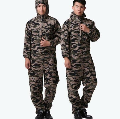 Mens Cotton Blend Loose Hooded Dungarees Overalls Jumpsuit Pants Rompers Trouser