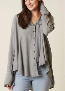 NWT Free People Magic Breeze Button Down blouse Retail
