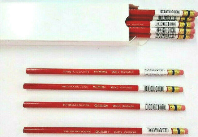 Prismacolor Col Erase Erasable Colored Pencil 12 Count Red 20045 For Sale Online Ebay