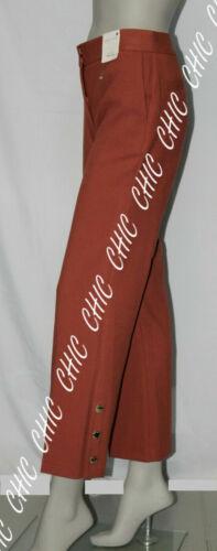 M /& S Per Una Roma Rise Ladies Straight Leg Ankle Grazer Trousers M//Pink RRP £45