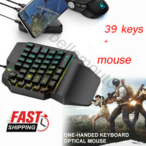 One-handed-Small-39-Keys-Mechanical-Gaming-Keyboard-USB-Wired-Mouse-for-PC-UK