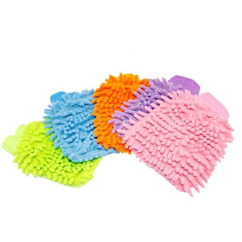 1X KFZ Mikrofaser Handschuh Waschhandschuh Autowaschhandschuh Waschen 20*15Cm