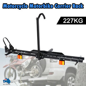 Motorcycle-Motorbike-Carrier-Rack-Towbar-Arm-Rack-Dirt-Bike-Ramp-Brake-Lights