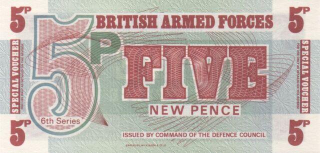 BRITISH ARMED FORCES/P-M47 // Billet(s) de 5 PENCE-6th series-1972