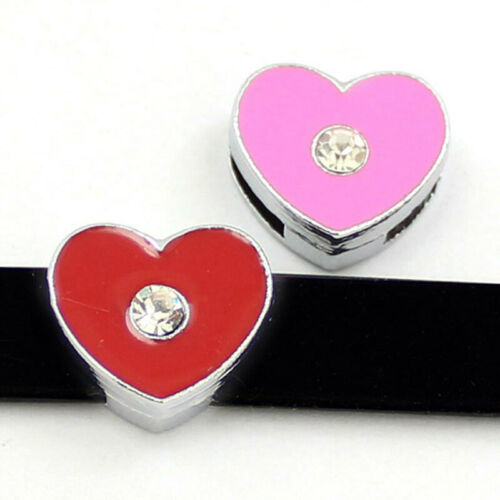 Wholesale Mixed Styles 10pcs//pack Slide Charms Fit 8mm DIY Wristband Bracelets