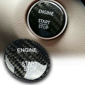 Gloss Real Red Carbon Fiber Engine Start Button For 12-18 W218 CLS550 CLS63