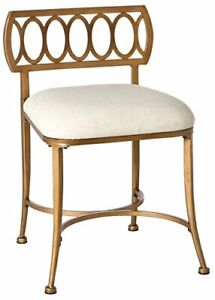 Fabulous Details About Bronze Metal Vanity Stool Bed Room Dressing Chair Gold Bath Bench Fabric Seat Gmtry Best Dining Table And Chair Ideas Images Gmtryco