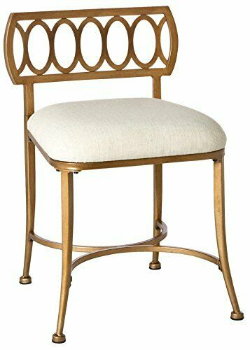 Brilliant Bronze Metal Vanity Stool Bed Room Dressing Chair Gold Bath Bench Fabric Seat Gmtry Best Dining Table And Chair Ideas Images Gmtryco