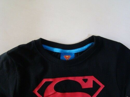 NEW Toddler Boys Superman Hero Cotton Tee Top  Size 3.4.5.6.7  BLACK