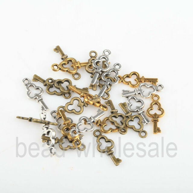 Wholesale silver/golden/retro copper plated 150pcs Tibetan silver key