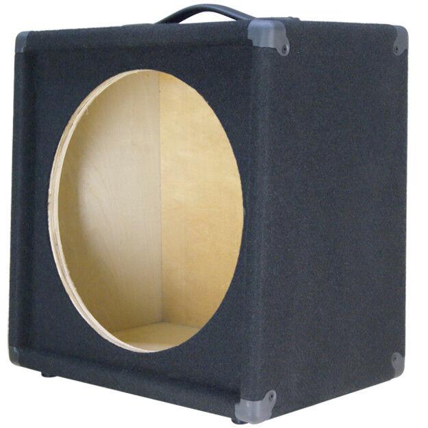 1X15 Guitar Speaker Empty Cabinet Slanted Grünically schwarz carpet finish G115SL