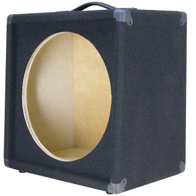 1x15 guitar speaker empty cabinet slanted vertically black carpet finish g115sl ebay. Black Bedroom Furniture Sets. Home Design Ideas