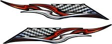 Trailer Boat Car Truck Wall Ford Chevy Race Flag Graphics Decals Stickers 2-50""