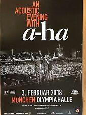 A-HA  2018  MÜNCHEN  + orig.Concert Poster -- Konzert Plakat  A1 NEU