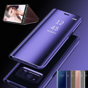 Luxury-Mirror-Smart-Flip-Leather-Stand-Case-Cover-For-iPhone-SamSung-Huawei