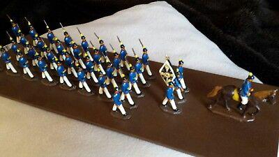Rational MilitÄrparade Aus Vollplastik Zinnfiguren, 36 Stück Fest Auf Brett Dekorativ Angemessener Preis