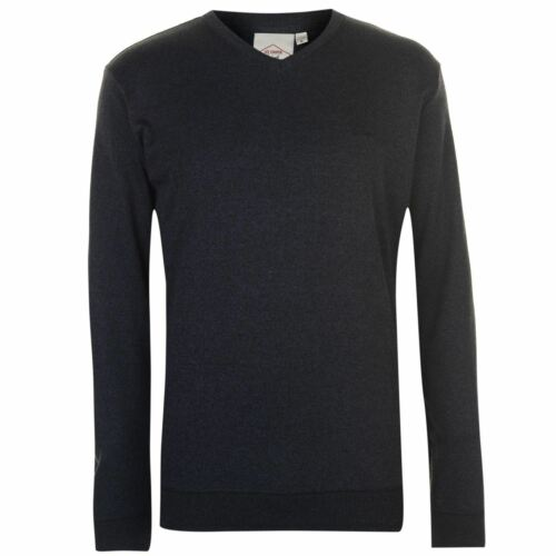 Lee Cooper Mens V Neck Knit Jumper Sweater Pullover Long Sleeve Lightweight