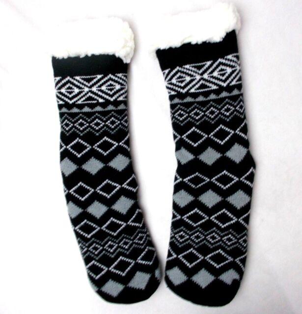 Charter Club Slipper Socks W// Gripper Sz L//XL Black Multi Holiday Socks CC17NP12