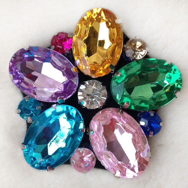 A Pair Color Flower Shoe Decor Rhinestone Crystal Wedding Bridal Boots Charms