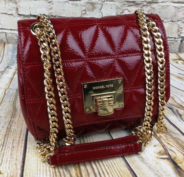 Michael Kors Vivianne SM Shoulder Flap Leather Cherry 348