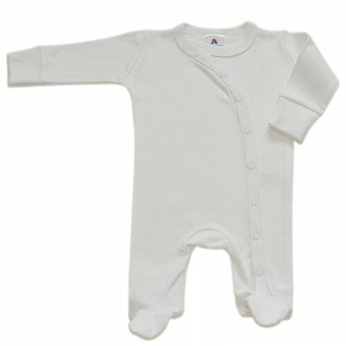 Cross Body Sleepsuit-Blanc Taille nouveau-né
