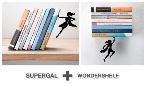 ARTORI Design Supergal Bookend and Wondershelf Book Stopper Holder Support Set