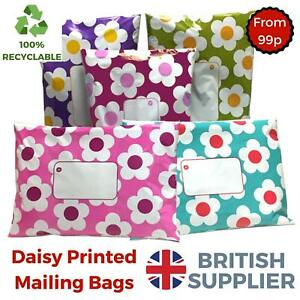 Daisy-Mailing-Bags-Printed-Post-Poly-Plastic-Coloured-Sack-Strong-Seal-All-Sizes