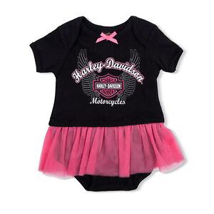 With Mesh Sleeves Like Tattoos. Pink Leotard Harley Davidson Infant Baby Girl