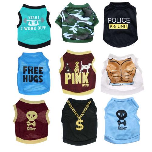 9PCS Boy Dog Clothes Shirt Cat Puppy Vest for Small Medium Pets Wholesale Lot