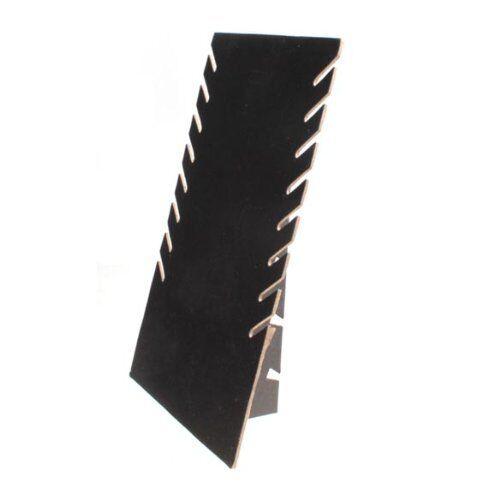 PT 4X Rechteck Schwarz Wildleder Halskette Display-Staender Y8F4