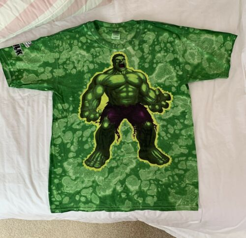 The Incredible Hulk Shirt Men's LARGE Green Gildan