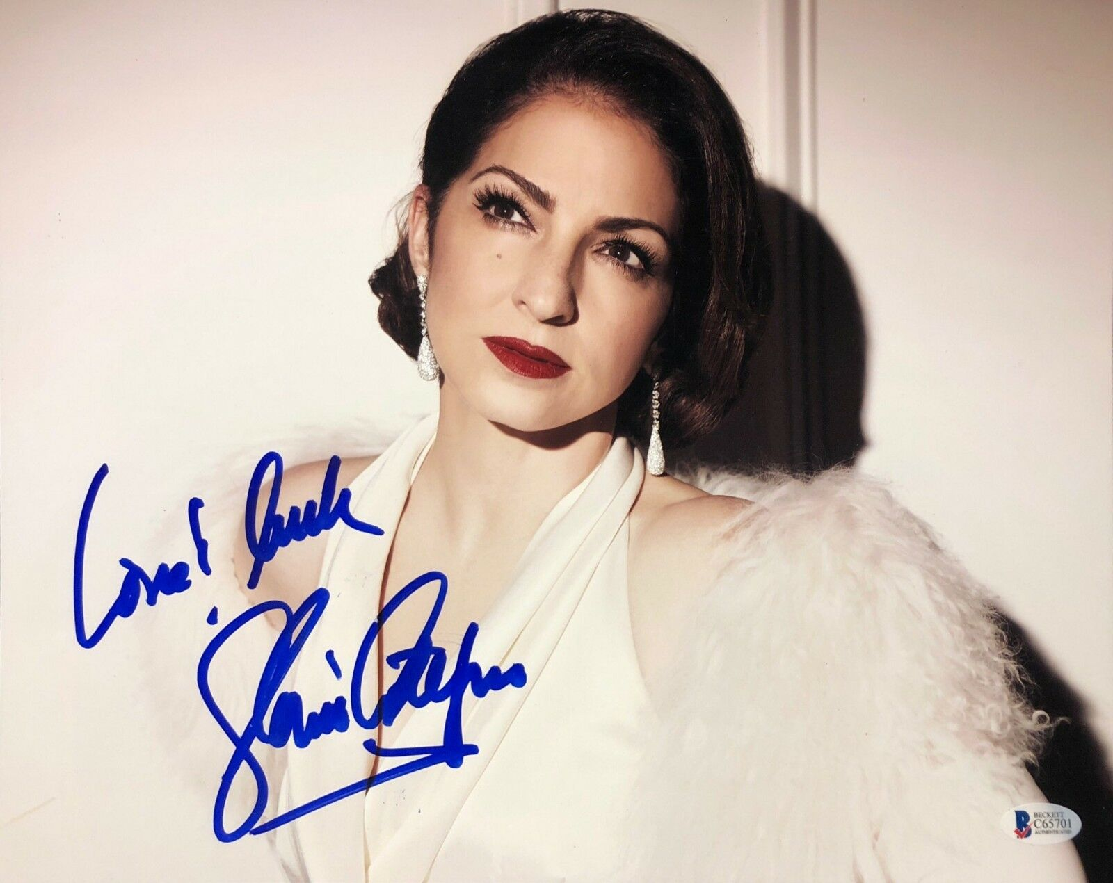 Gloria Estefan Signed 11x14 Photo *Model *Poseidon *Money Train Beckett C65701