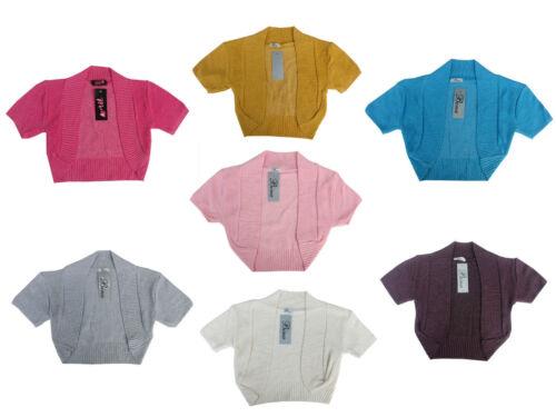 Girls Knitted Casual Party Shrug // Bolero //Ruche Sizes S//M 7-9Y 10-12Y /& M//L