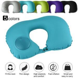 Practical-U-Shaped-Press-Inflatable-Tour-Travel-Pillow-Air-Cushion-Head-Neck-XI