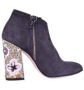 amp; amp; amp; Heel DOLCE Booties Black GABBANA Boots Suede RUNWAY RUNWAY RUNWAY Shoes Mosaic ZfRHxUwqRd