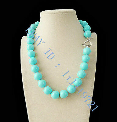 """14mm AAA+ Blue South Sea shell Pearl Necklace 18"""" LL002"""